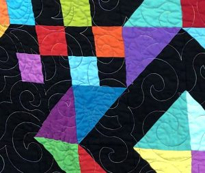 Closeup of quilt front